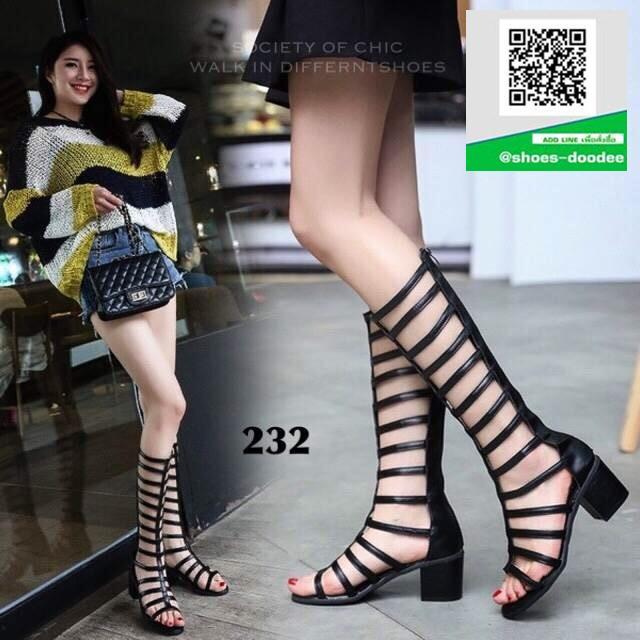 รองเท้าแตะแฟชั่นสีดำ Gladiater Sandals (สีดำ )