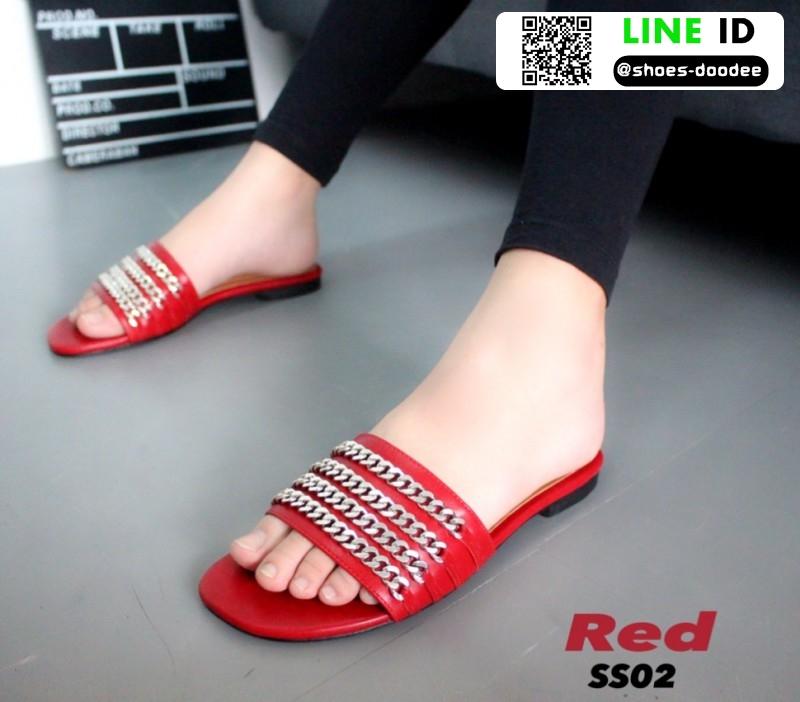 รองเท้าแตะ สไตล์ Givenchy SS02-RED [สีแดง]