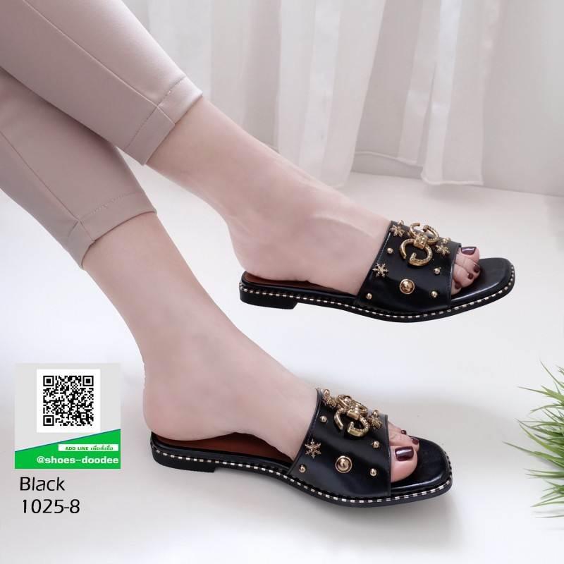รองเท้าแตะ งานใหม่ล่าสุด 1025-8-ดำ [สีดำ]