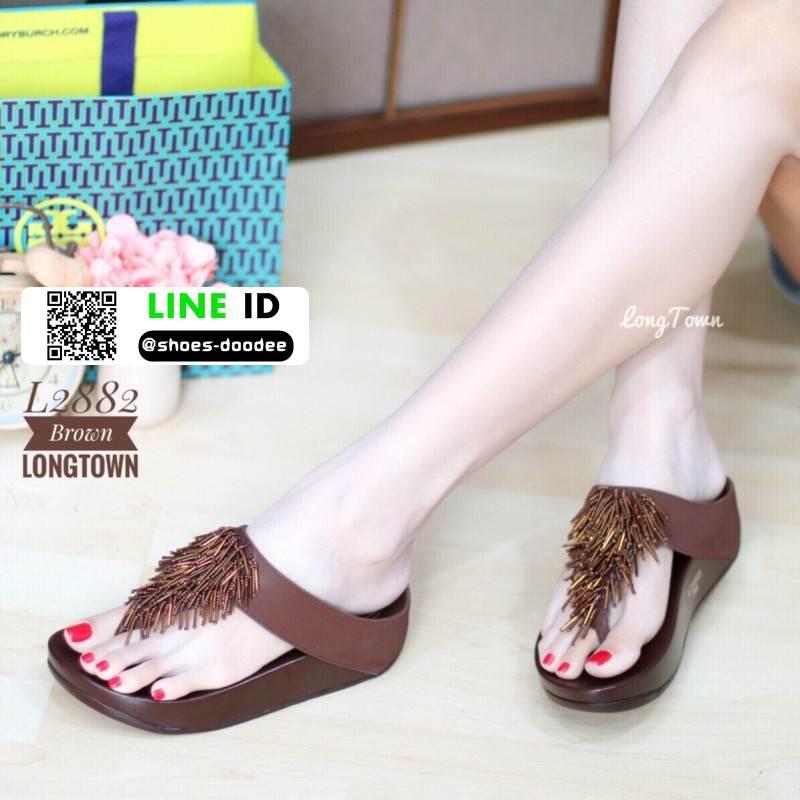 รองเท้าสุขภาพแต่งพู่ตุ้งติ้ง L2882-BRN [สีน้ำตาล]