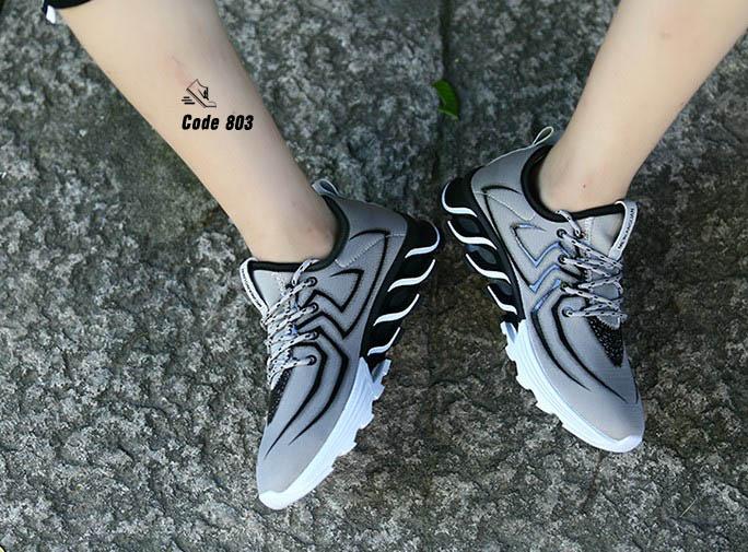 รองเท้าผ้าใบ ลาย Spider-man-Gray BB [สีเทา]