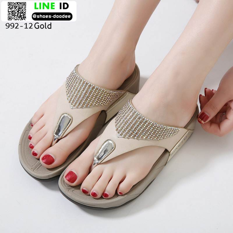 รองเท้าสุขภาพแบบใหม่เทรนด์เกาหลี 992-12-GLD [สีทอง]