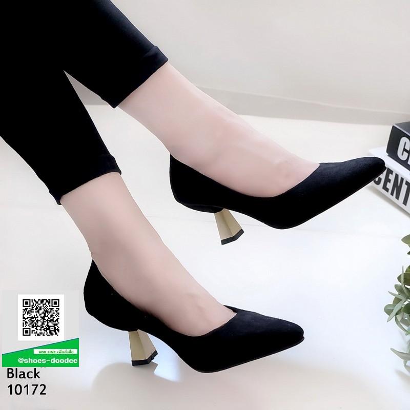 รองเท้าส้นสูงปราด้า 10172-ดำ [สีดำ]