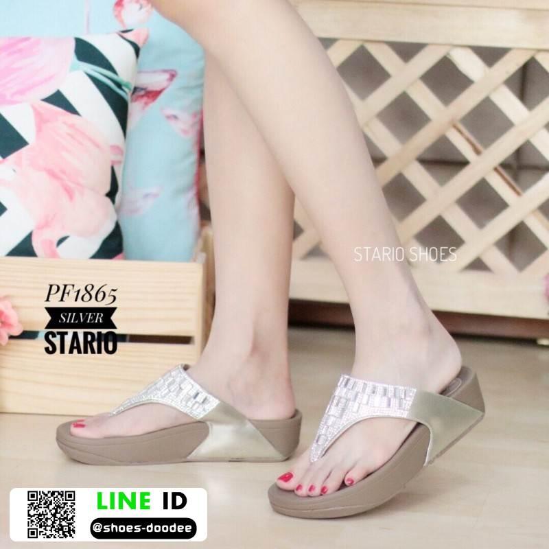 รองเท้าสุขภาพดีไซน์แบบหูคีบ PF1865-GLD [สีทอง]