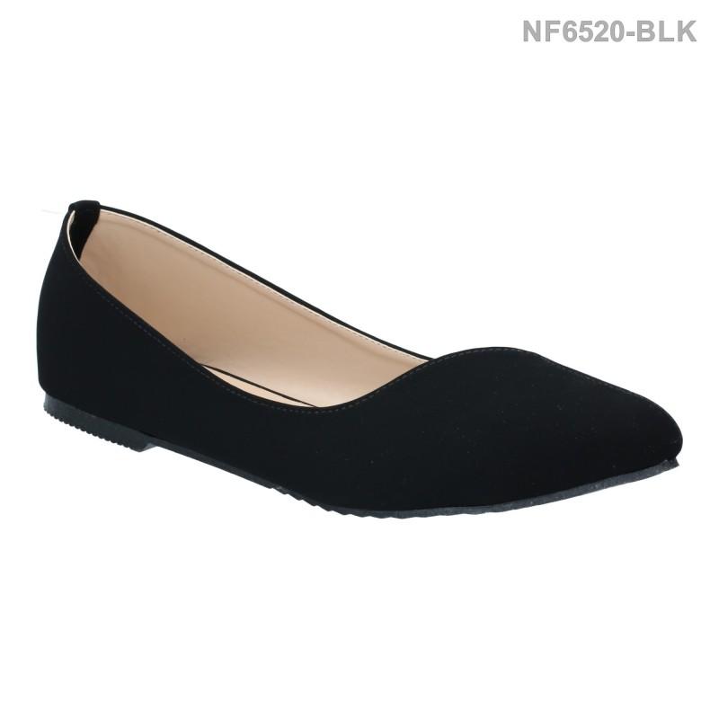 ลดล้างสต๊อก รองเท้าส้นแบน NF6520-BLK [สีดำ]