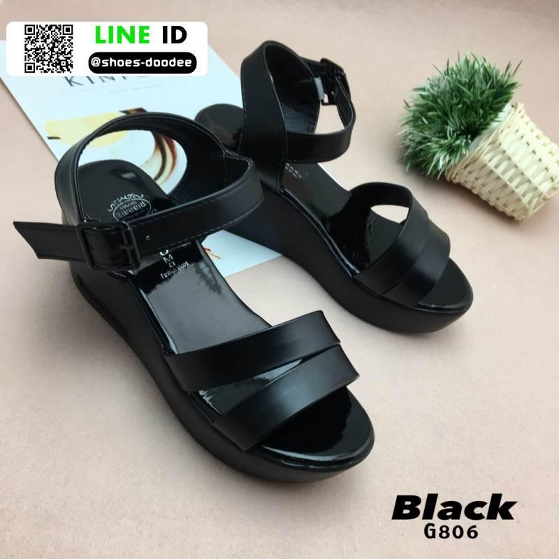 รองเท้า platform สไตล์เกาหลี G806-BLK [สีดำ]
