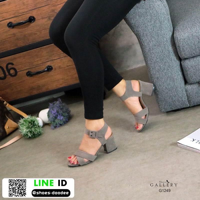 รองเท้าส้นสูงรัดข้อ G12-49-GRY [สีเทา]