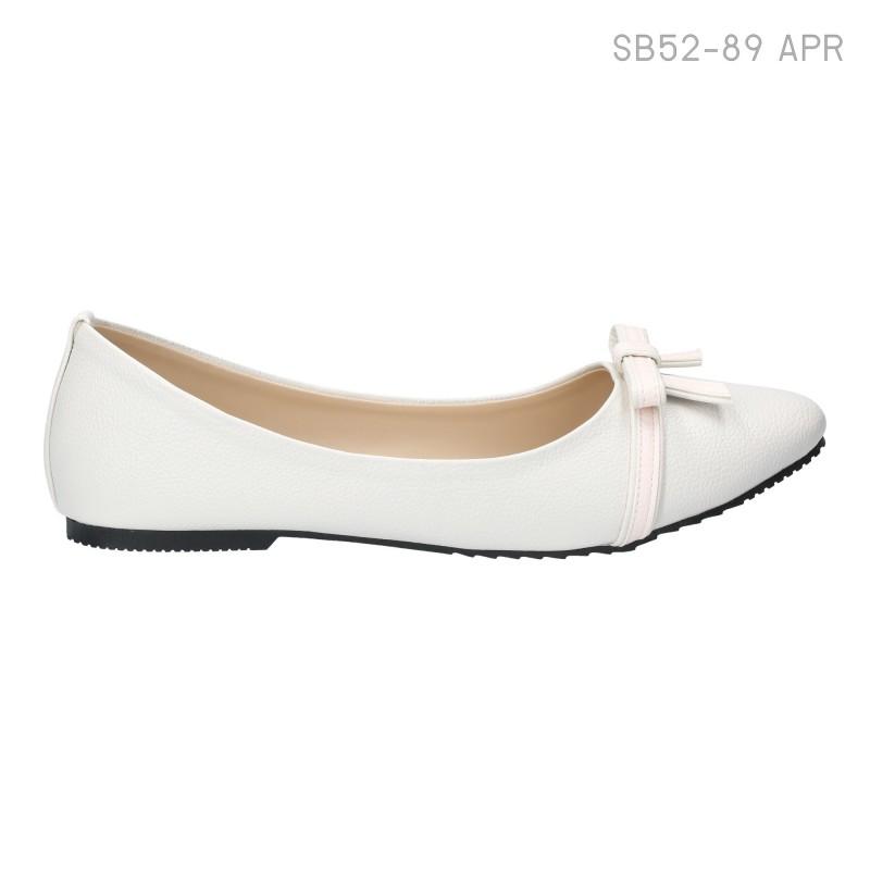 ลดล้างสต๊อก รองเท้าส้นแบน SB52-89-APR [สีแอปริคอท]