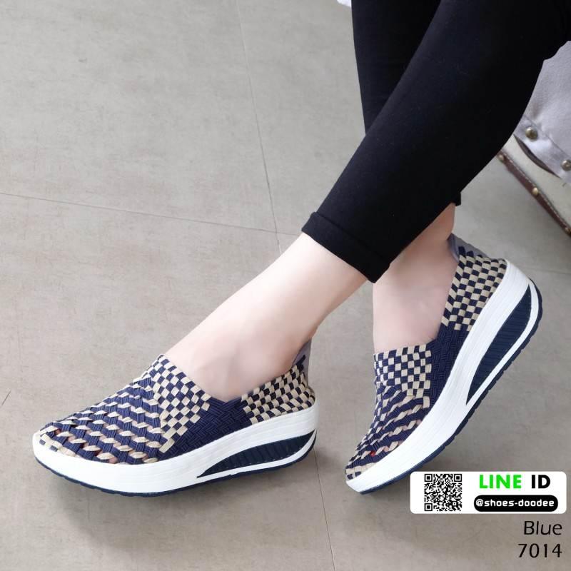 รองเท้าผ้าใบยางยืด 7014-น้ำเงิน [สีน้ำเงิน]