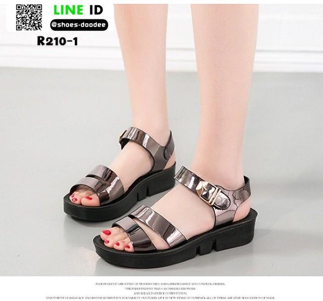 รองเท้าลำลองส้นเตารีดรัด ส้นตะกั่ว R210-1 [สีตะกั่ว]