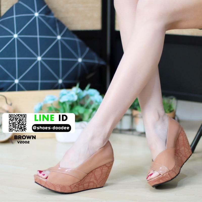 รองเท้าคัชชูทรงโอ่งงานหนังแก้ว V2002-BWN [สีน้ำตาล]