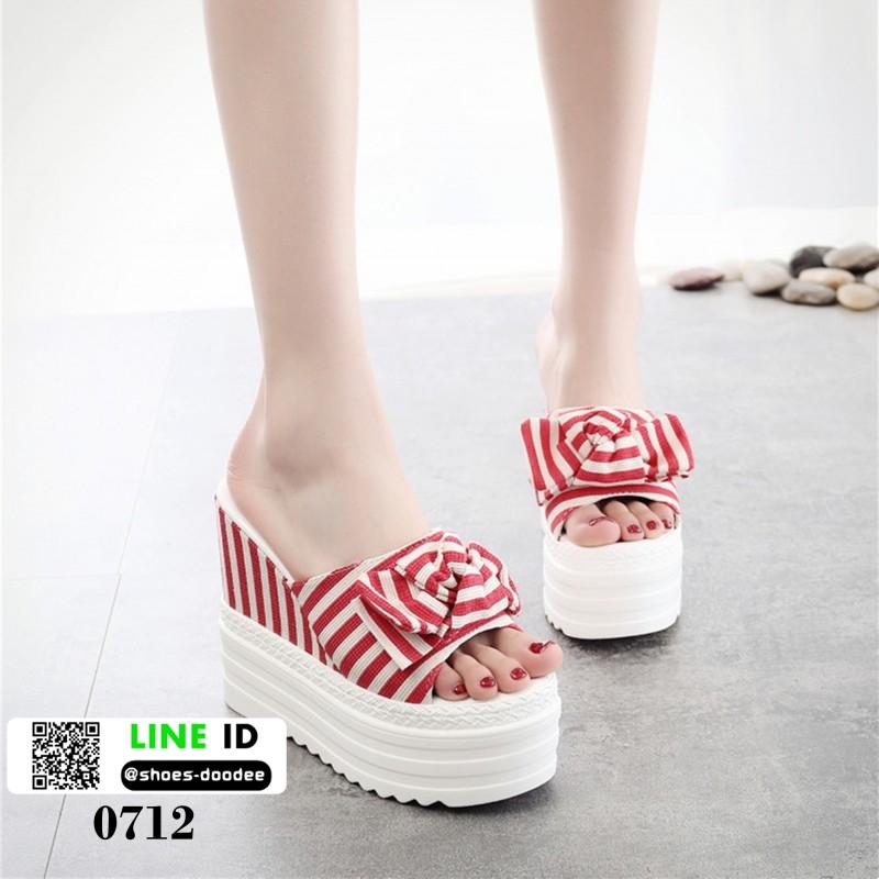 รองเท้านำข้าสไตล์เกาหลี ทรงเตารีด 0712-RED [สีแดง]