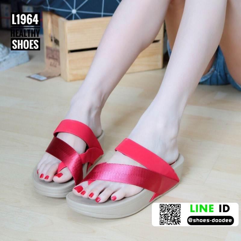 รองเท้าส้นเตารีด style fitflop L1964-RED [สีแดง]