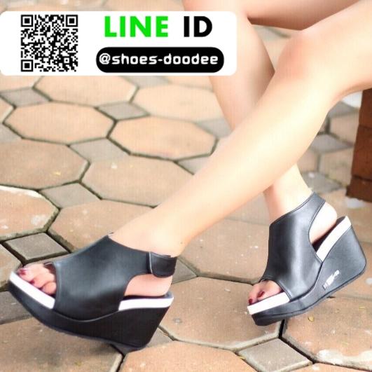 รองเท้าลำลองรัดส้น สไตล์สุขภาพ 981-93-BLK [สีดำ]