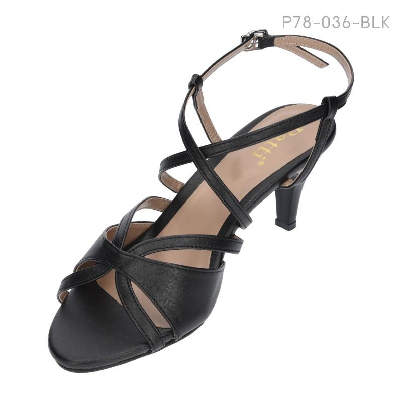 ลดล้างสต๊อก รองเท้าส้นเตี้ย P78-036-BLK [สีดำ]