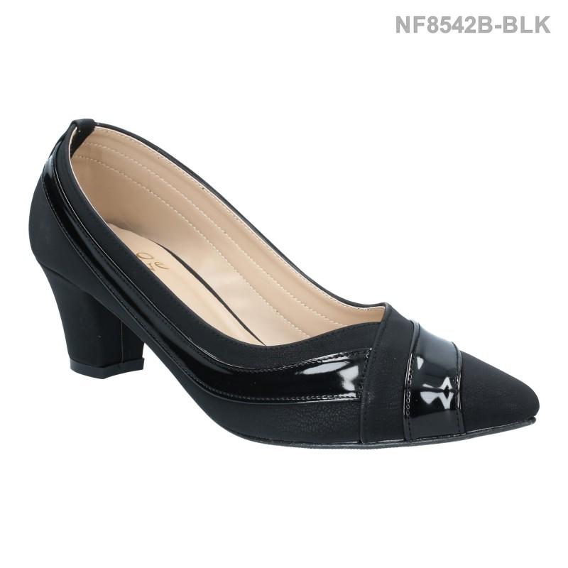 ลดล้างสต๊อก รองเท้าส้นเตี้ย NF8542B-BLK [สีดำ]
