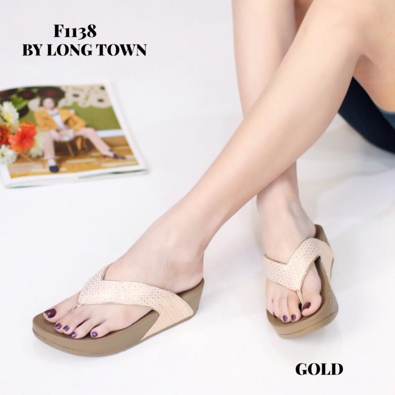 รองเท้าเพื่อสุขภาพ ฟิทฟลอปหนีบ F1138-GLD [สีทอง]