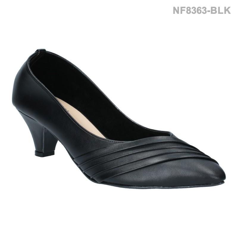 ลดล้างสต๊อก รองเท้าส้นเตี้ย NF8363-BLK [สีดำ]