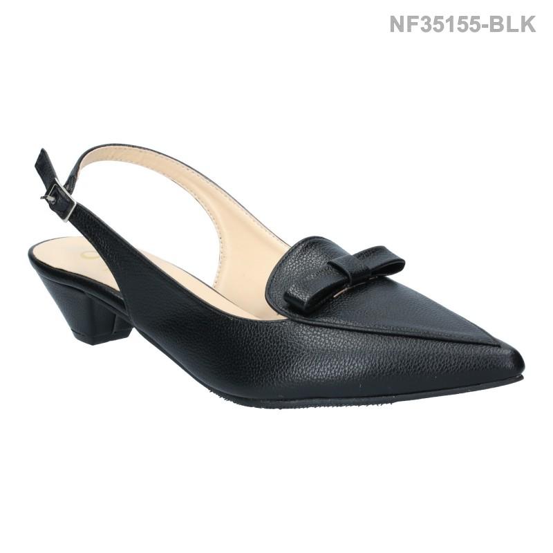ลดล้างสต๊อก รองเท้าส้นเตี้ย NF35155-BLK [สีดำ]