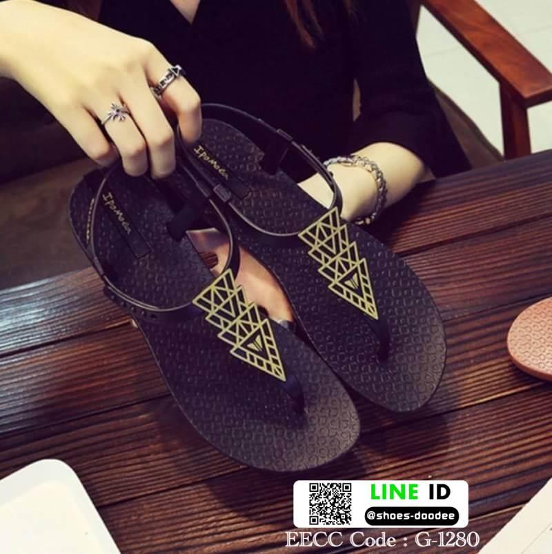 รองเท้าแตะ หูหนีบ ipomoea G-1280-BLK [สีดำ]