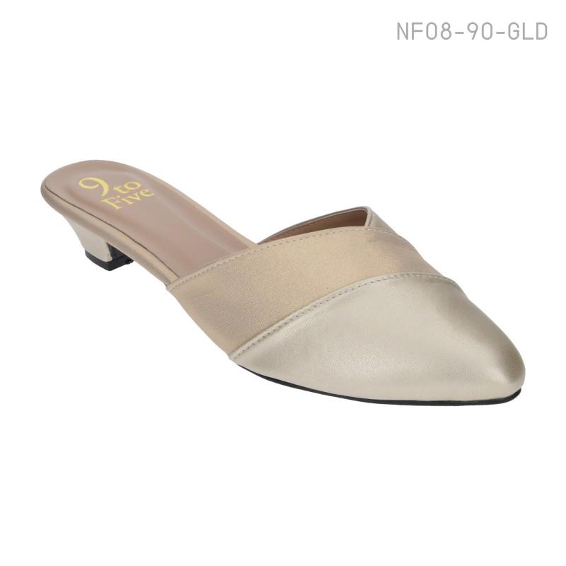 ลดล้างสต๊อก รองเท้าส้นเตี้ย NF08-90-GLD [สีทอง]