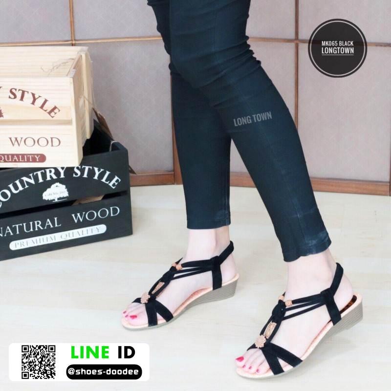 รองเท้าแตะรัดส้น MK065-BLK [สีดำ]