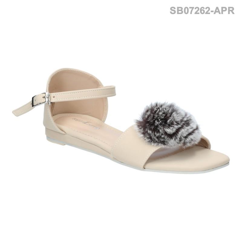 ลดล้างสต๊อก รองเท้าส้นแบน SB07262-APR [สีแอปริคอท]