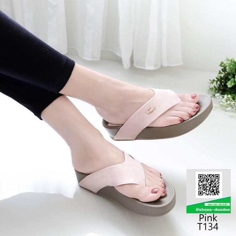 รองเท้าสุขภาพสไตล์ฟิทฟลอบ T134-ชมพู [สีชมพู]