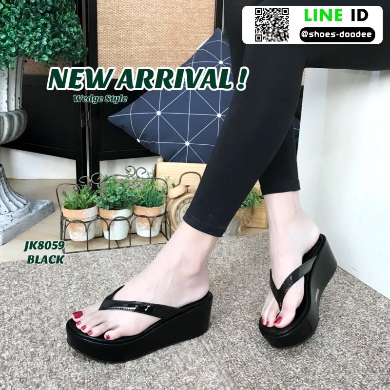 รองเท้าสไตล์ลำลองแบบหนีบ JK8059-BLK [สีดำ]