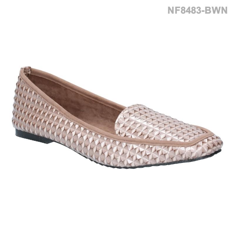 ลดล้างสต๊อก รองเท้าส้นแบน NF8483-BWN [สีน้ำตาล]