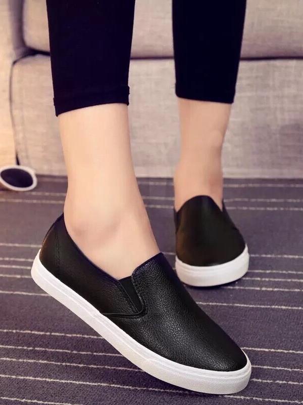 รองเท้าผ้าใบแฟชั่น แบบสวม ทรงนินจา (สีดำ )