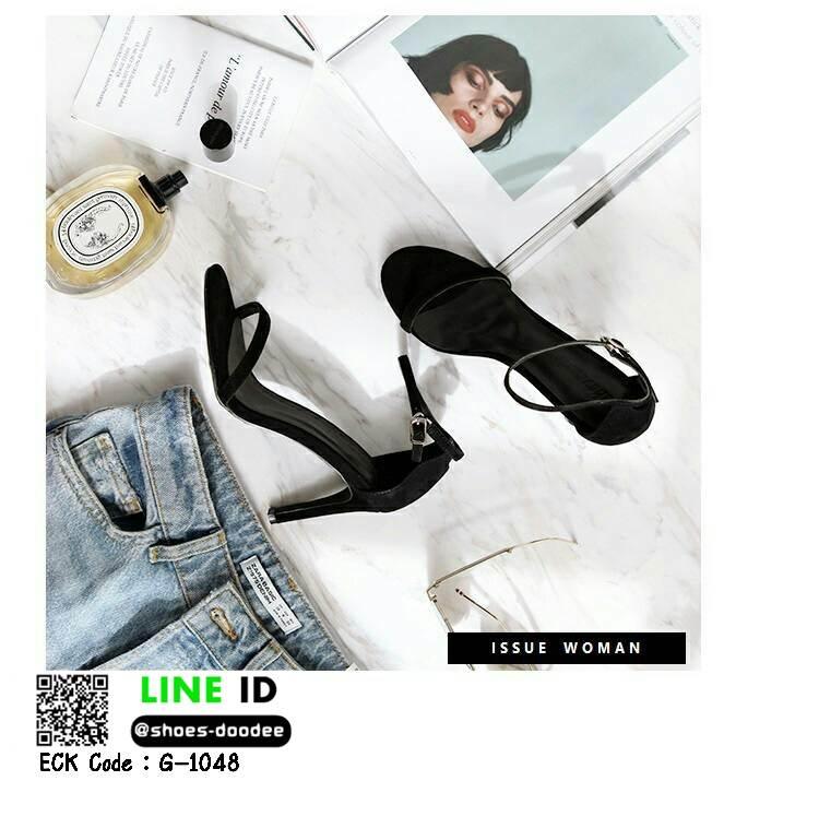 รองเท้าสวมส้นเข็ม G-1048-BLK [สีดำ]