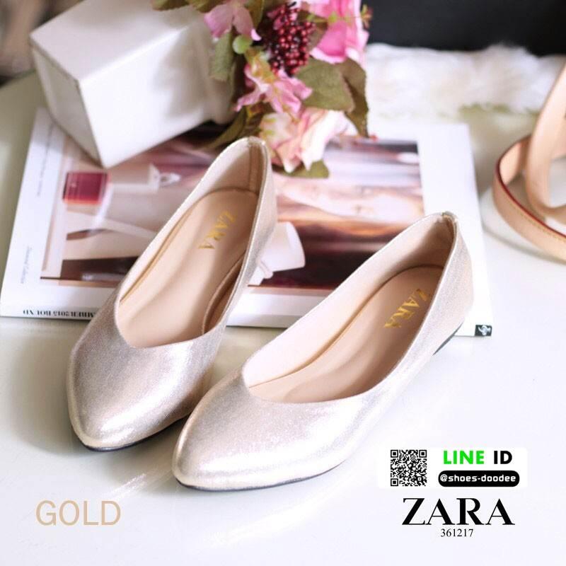 รองเท้าคัชชูรุ่นคลาสสิคยอดฮิต style ZARA 361217-GLD [สีทอง]