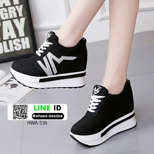 รองเท้าผ้าใบแพลตฟอร์มนำเข้า HWA-536-BLK [สีดำ]