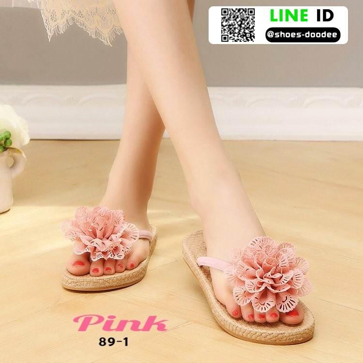 รองเท้าแตะหูคีบสไตล์เกาหลี 89-1-PNK [สีชมพู]