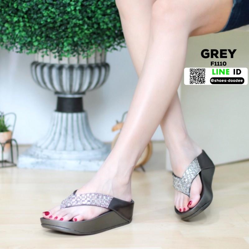 รองเท้าส้นเตารีด style fitflop แบบคีบ F1110-GRY [สีเทา]