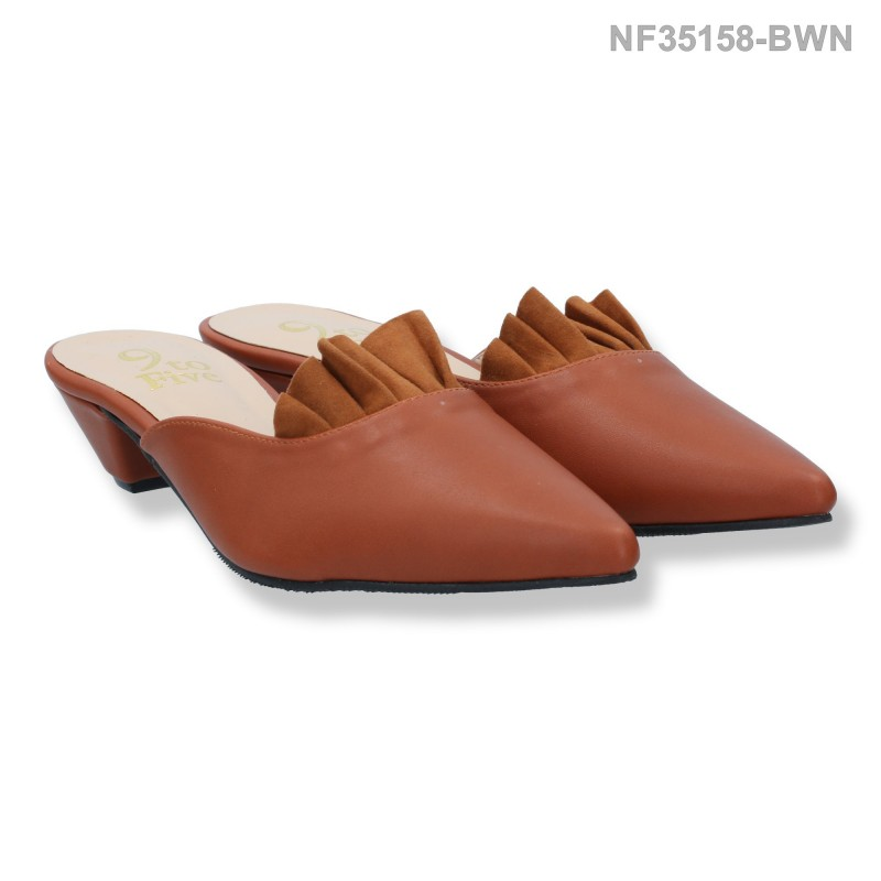 ลดล้างสต๊อก รองเท้าส้นเตี้ย NF35158-BWN [สีน้ำตาล]