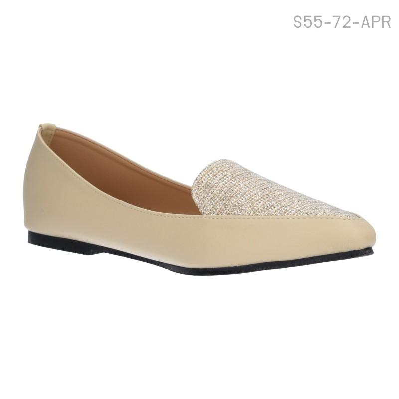 ลดล้างสต๊อก รองเท้าส้นเตี้ย S55-72-APR [สีแอปริคอท]
