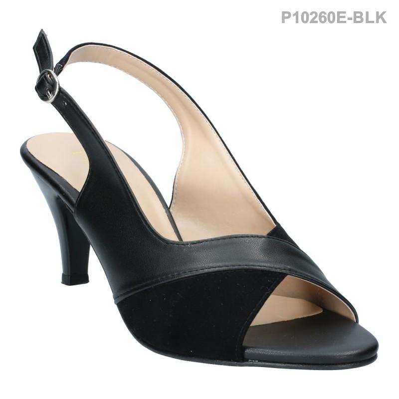 ลดล้างสต๊อก รองเท้าส้นเตี้ย P10260E-BLK [สีดำ]