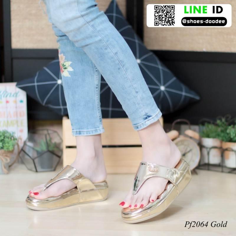รองเท้าสุขภาพพื้นนิ่มใส่สบาย PF2064-GLD [สีทอง]