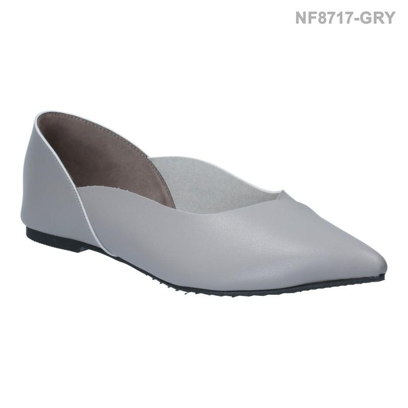 ลดล้างสต๊อก รองเท้าส้นแบน NF8717-GRY [สีเทา]