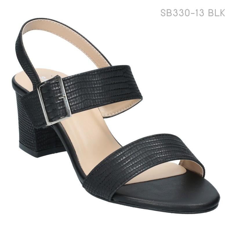 ลดล้างสต๊อก รองเท้าส้นสูงแฟชั่น SB330-13-BLK [สีดำ]