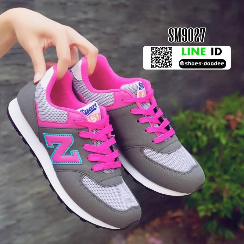 รองเท้าผ้าใบ ทรงสปอร์ต SM9027-GRY [สีเทา]