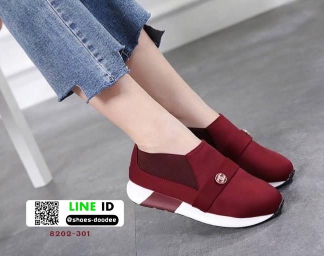 รองเท้าผ้าใบไร้เชือก chanel sneaker 8202-301-RED [สีแดง]