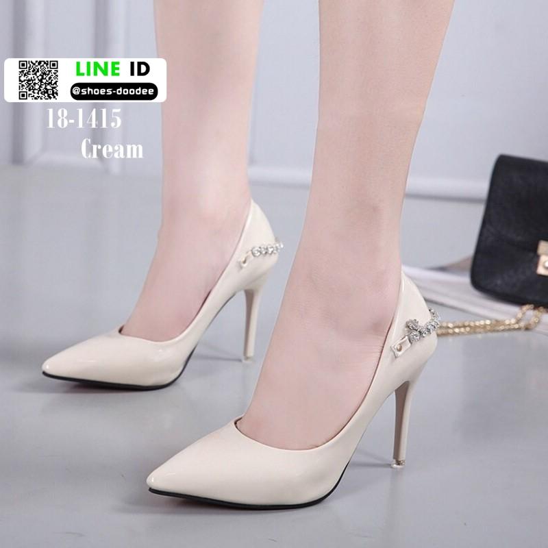รองเท้าคัชชูส้นสูงนำเข้า 18-1415-CREAM [สีครีม]