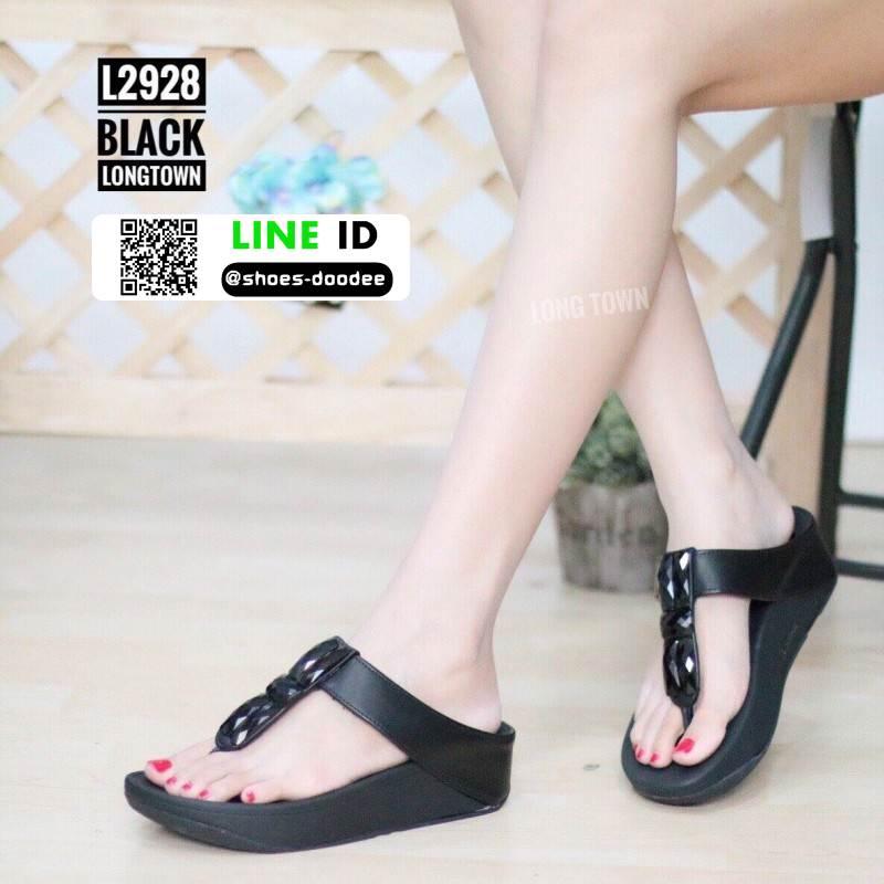 รองเท้าหูคีบแต่งเพชร ฟิทฟลอปหนีบ L2928-BLK [สีดำ]