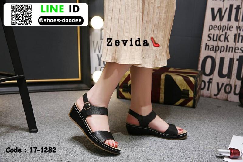 รองเท้าสไตล์สวมรัดส้น 18-1282-BLK [สีดำ]