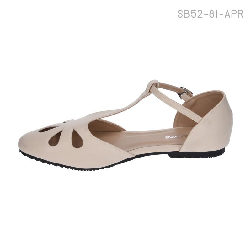 ลดล้างสต๊อก รองเท้าส้นเตี้ย SB52-81-APR [สีแอปริคอท]
