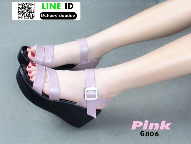 รองเท้า platform สไตล์เกาหลี G806-PNK [สีชมพู]