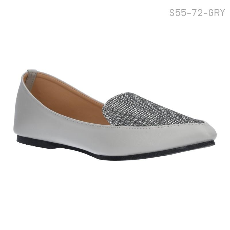 ลดล้างสต๊อก รองเท้าส้นเตี้ย S55-72-GRY [สีเทา]
